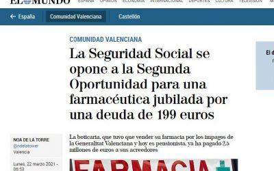 Primer conflicto con la Seguridad social en los Juzgados de lo Mercantil de Valencia por la segunda oportunidad.